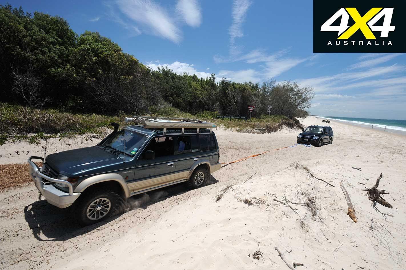 Bribie island high tide driving