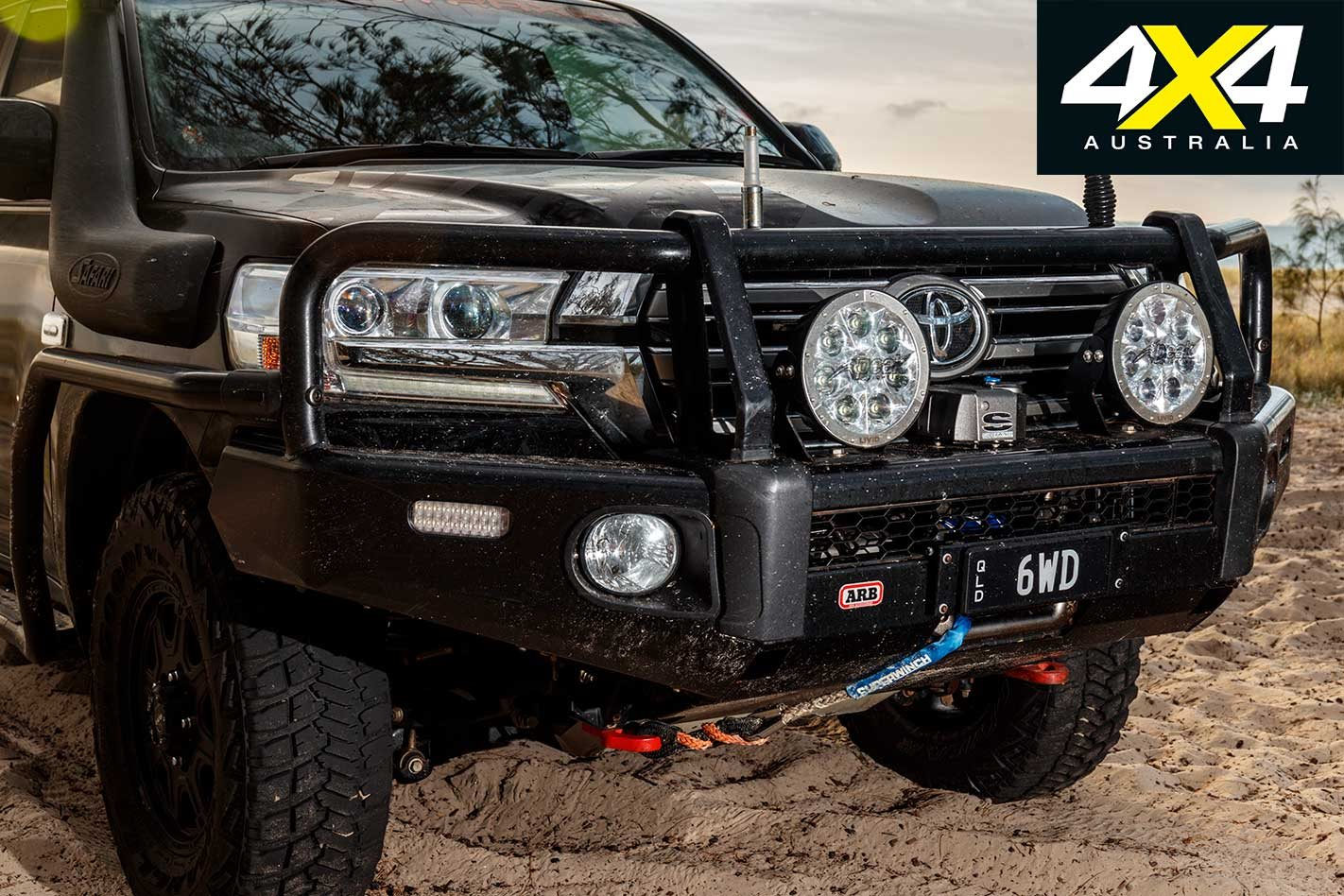 Custom Toyota Land Cruiser 200 6x6 Review Lift Kit Exemplary Arb Has Been Plastered Across The Including Bullbar Side Rails And Steps