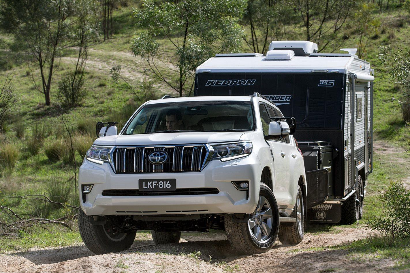 Toyota Prado GXL towing