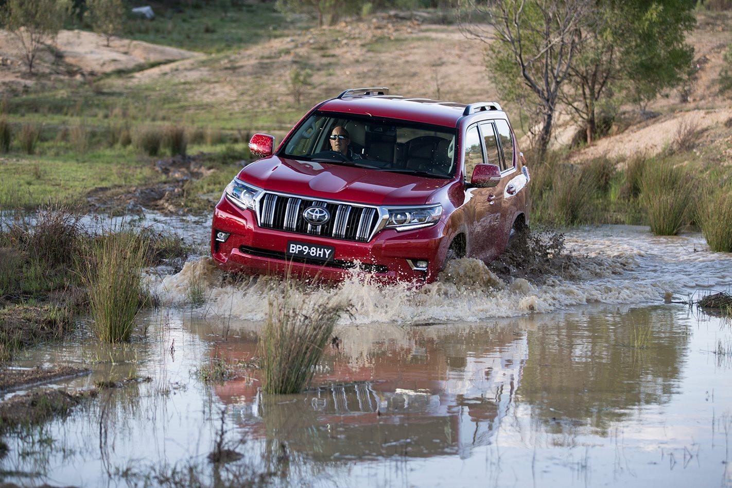 Toyota Prado GXL water crossing