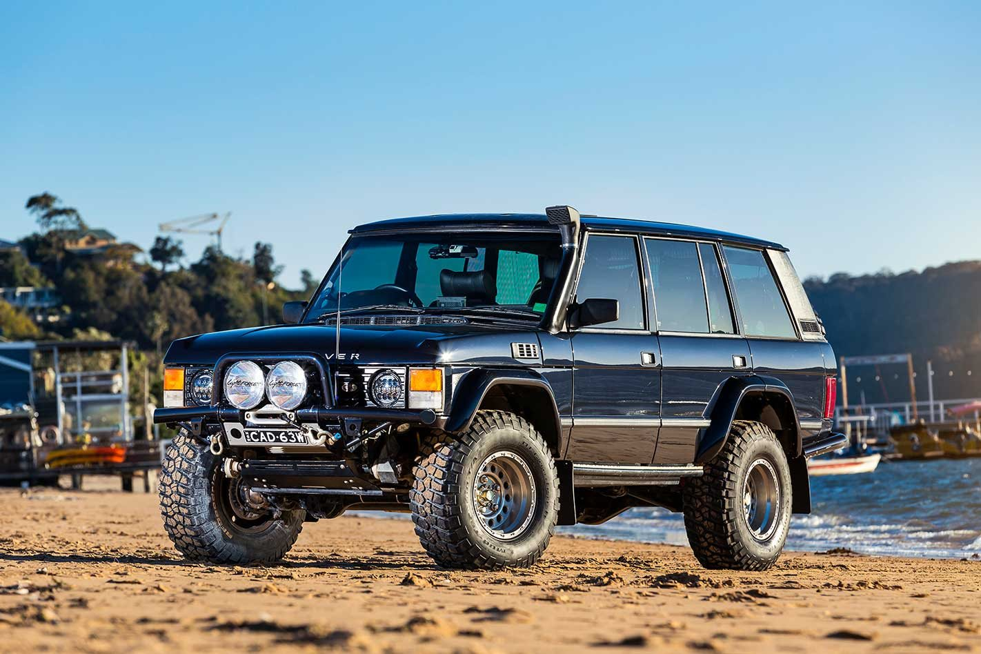 range rover p38 custom bumper
