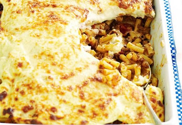 Pastitsio. [Click here for the recipe](http://www.aww.com.au/food/recipes/2012/4/pastitsio-1)