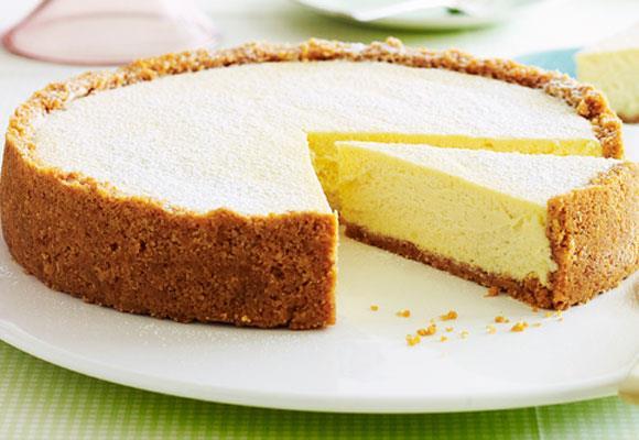 New York deli cheesecake. [Click here for the recipe](http://www.aww.com.au/food/recipes/2011/9/new-york-deli-cheesecake/)