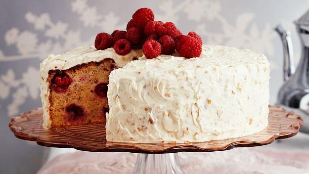 """**[Raspberry hazelnut cake](https://www.womensweeklyfood.com.au/recipes/raspberry-hazelnut-cake-11732 target=""""_blank"""")**"""