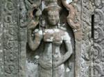 Stone carving at Angkor