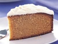 Honey cake with honey frosting