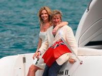 Rod Stewart and Penny Lancaster in Portofino
