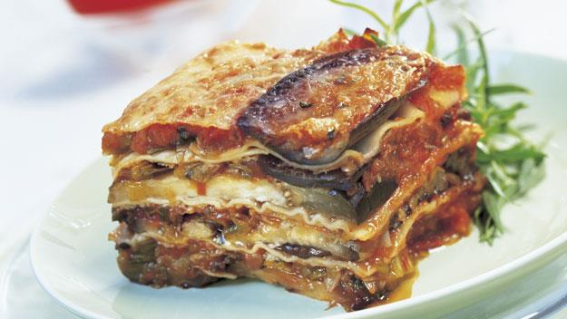 "**[Eggplant, tomato and leek lasagne](https://www.womensweeklyfood.com.au/recipes/eggplant-tomato-and-leek-lasagne-8014|target=""_blank"")**"