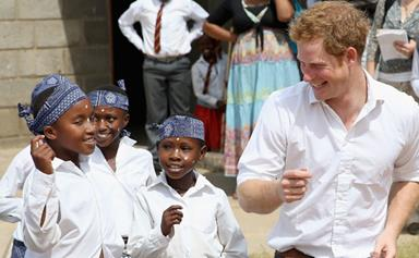 Prince Harry charms African schoolkids with dad dancing