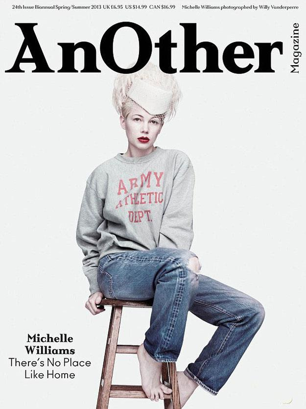Michelle Williams in *AnOther* magazine.