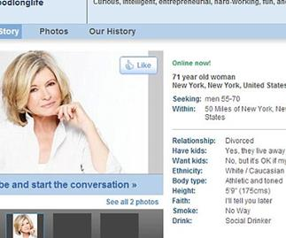 Martha Stewart takes online dating world by storm at 71