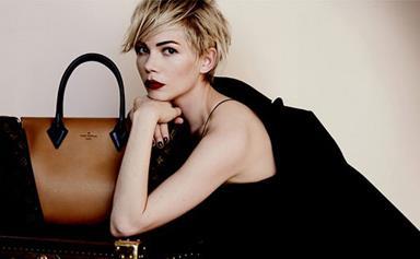 Michelle Williams' model moment