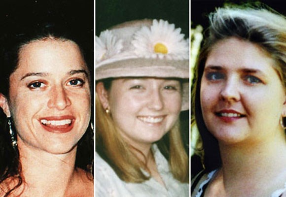 The wealthy Perth suburb of Claremont was plunged into chaos in 1996 and 1997 when three young women disappeared in similar circumstances after nights out at local bars. The bodies of Jane Rimmer, 23, and Ciara Glennon, 27, were found in bushland but the body of Sarah Spiers has never been found. The crime remains unsolved.