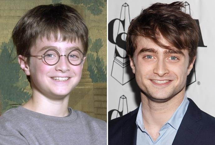 Emma's co-star Daniel Radcliffe in 2000 and 2011.