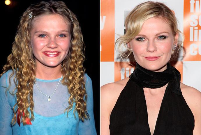 Kirsten Dunst in 1995 and October 2011.