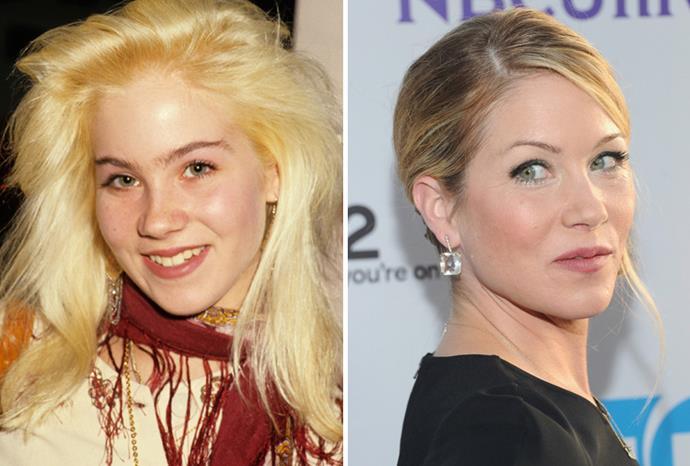 Christina Applegate in 1987 and 2011.