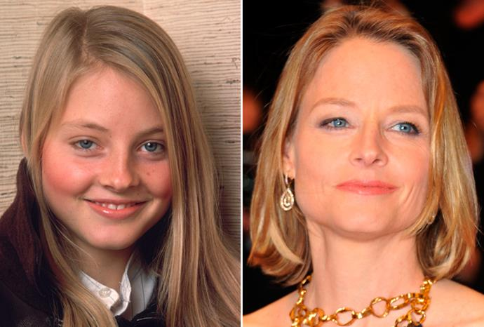Jodie Foster in 1980 and at an awards show in September 2011.
