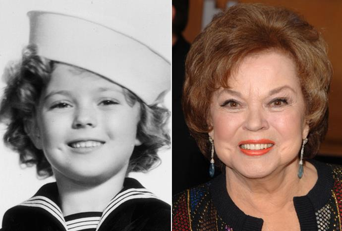 Legendary child star Shirley Temple in 1935 and 2006.