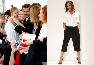 Harper Beckham front row for Victoria Beckham's show