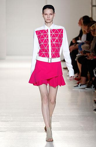 Victoria's spring/summer collection featured flashes of fuchsia.