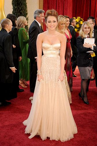 Looking every inch the elegant young lady at the Oscars in 2010.