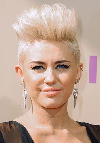 Miley cropped her hair in September 2012.