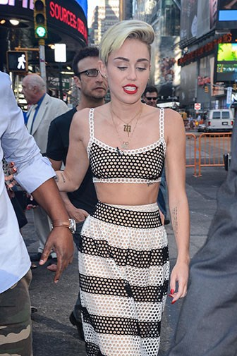 Miley in July 2013.