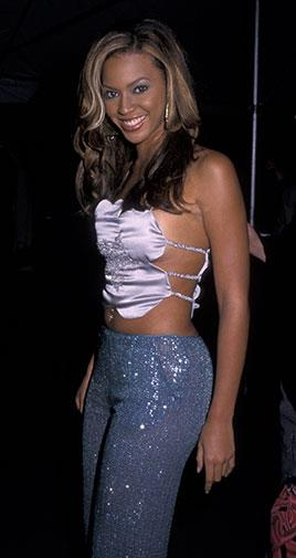 Some very sparkly pants and a barely-there top in 2000.