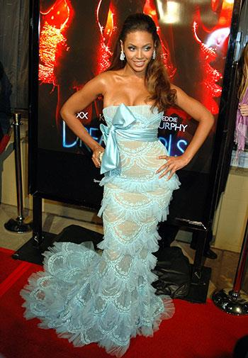 All lace, frills and ribbons at a film premiere in 2006.