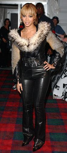 Lace, fur and leather in 2003.