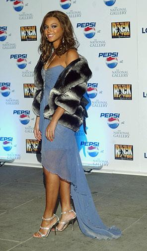 Denim and fake fur in 2004.