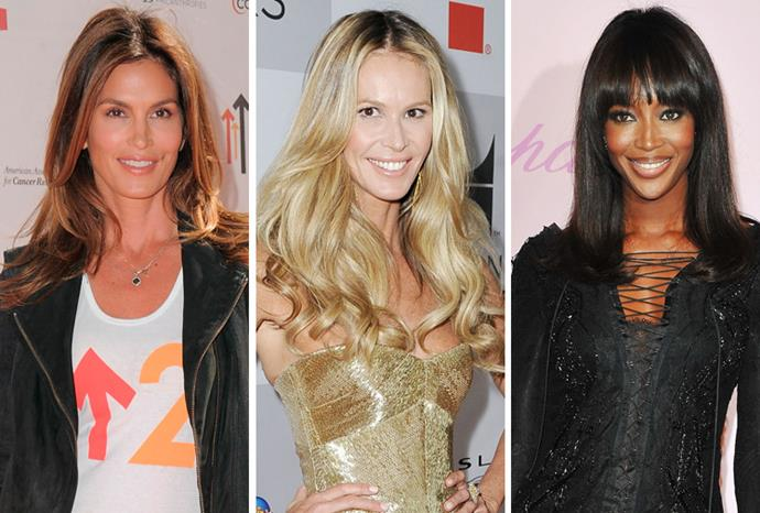 Supermodels Cindy Crawford, Elle Macpherson and Naomi Campbell were in great company throughout the 80s as the top models dominating the world and not much has changed since their heyday with all three still commanding mega bucks for modelling apparences.