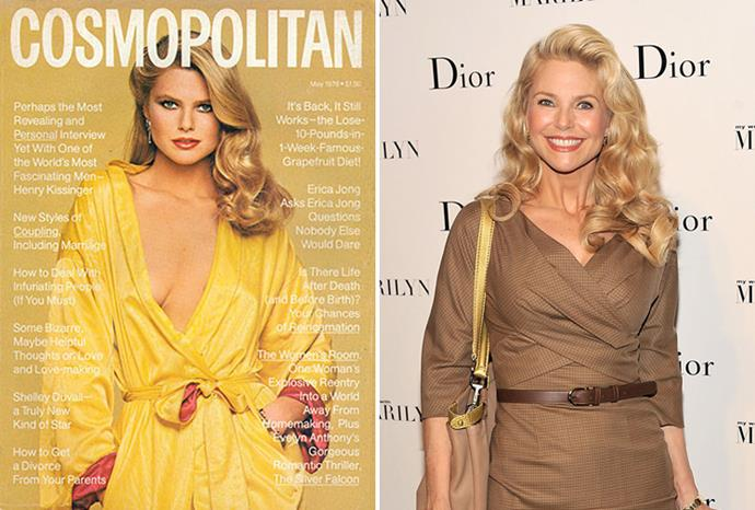 Christie Brinkley in 1978 aged 24, and in 2011 aged 57.