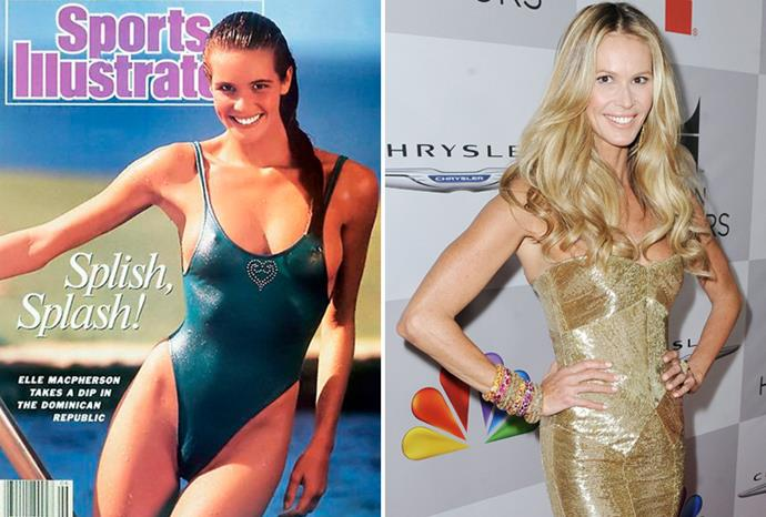 Elle Macpherson aged 23 in 1987 and aged 47 in 2011.