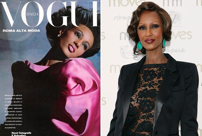 Iman aged 28 in 1983 and aged 56 in 2011.