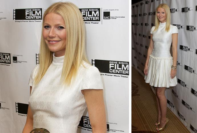 Gwyneth choice to ditch her bra at a Hollywood event raised eyebrows.