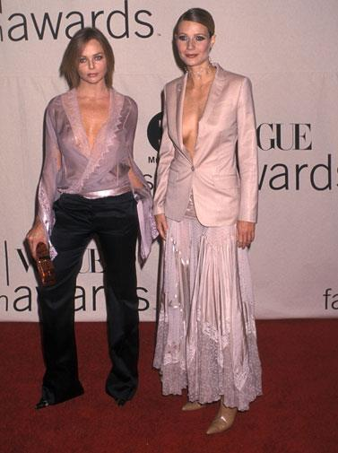 At the Vogue fasion awards in 2001.
