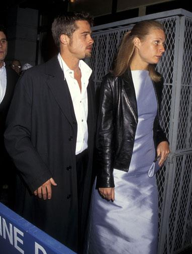 With old boyfriend Brad Pitt in May 1995.