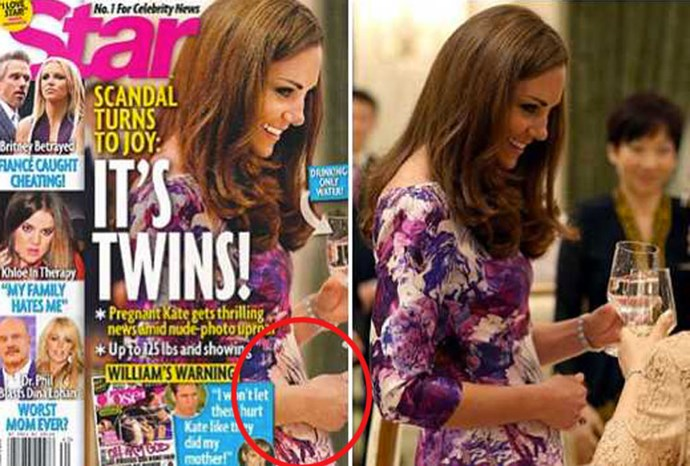 This magazine employed the airbrushing tool to help their claim Kate was pregnant.