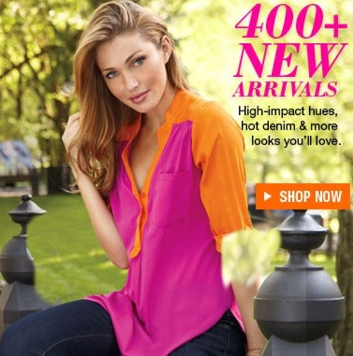 This catalogue model appears to have lost an elbow in the retouching process.