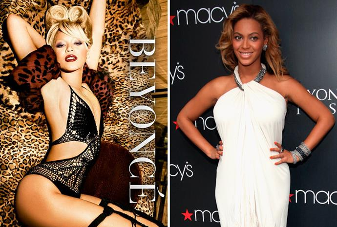 Beyonce's skin is suspiciously milky-white on the cover of her latest album.
