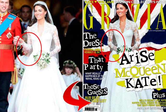 UK Grazia was criticised for making Kate Middleton's waist slimmer.