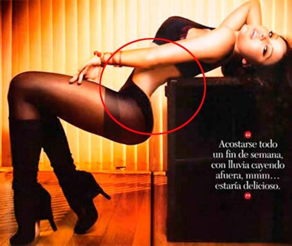 Mexico's Maxim magazine went too far slimming down this model's waist.