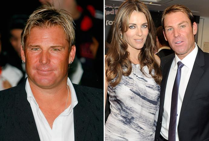 Shane Warne was chubby in 2007, but thin and wrinkle-free in London last year.