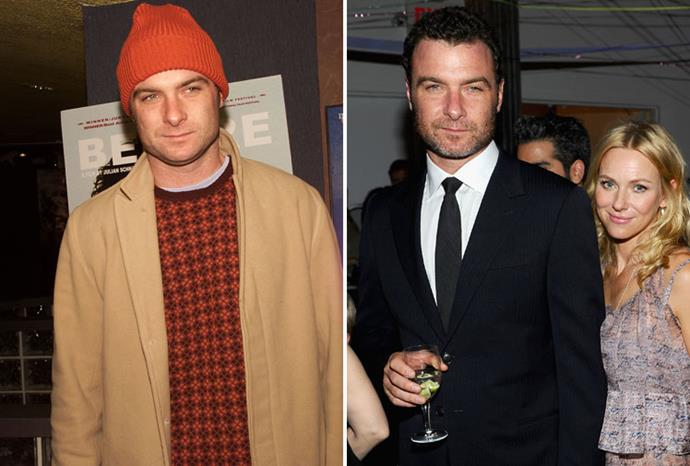 Liev Schreiber was very scruffy in 2001, but Naomi Watts had polished him up by 2011.