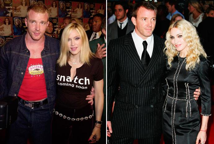 Guy Ritchie looked daggy in 2000, but Madonna had him looking dapper by 2008.
