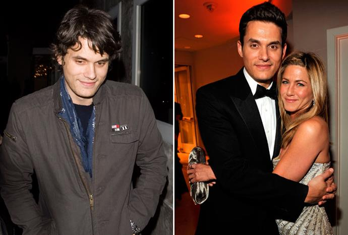 John Mayer went from grunge to gentleman when he dated Jennifer Aniston in 2009.