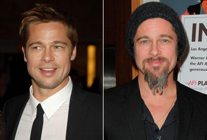 Brad Pitt was super-sexy before Angelina Jolie, but scarily hairy in 2009.