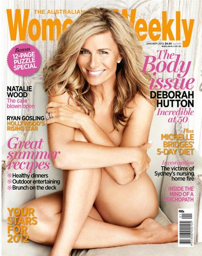 Deborah Hutton on the cover of the January 2012 issue of *The Weekly*.