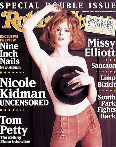 Nicole Kidman on the cover of *Rolling Stone* in July 1999.